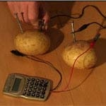 how to make a potato powered light bulb video